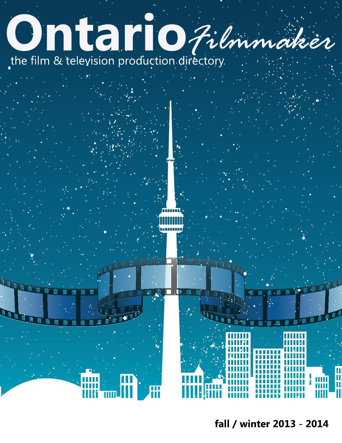 Ontario Filmmaker Directory - Fall / Winter 2013 - 2014 by Ontario ...