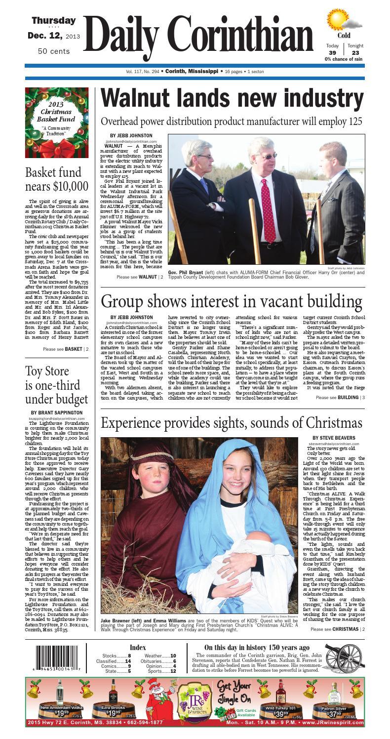 121213 daily corinthian e edition by Daily Corinthian - issuu