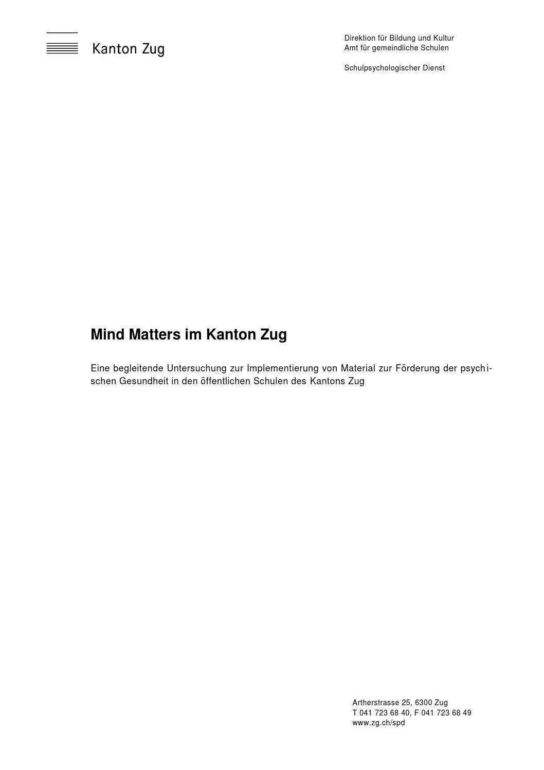 MindMatters im Kanton Zug by PAX P4X - issuu