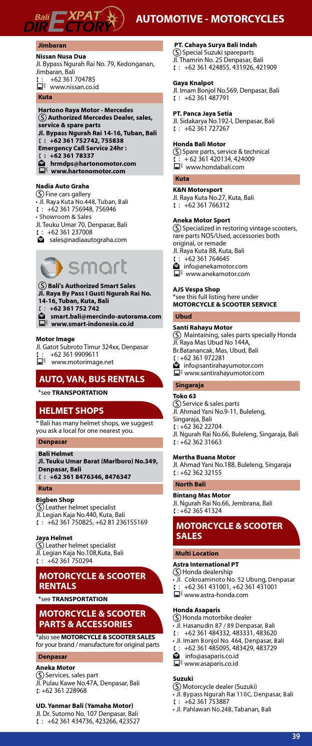 """bali directory 2012-2013 business directory """"updated edition"""""""