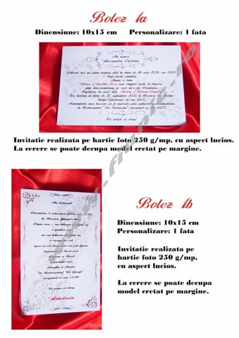 Invitatii Botez By Cosmin Flore Issuu