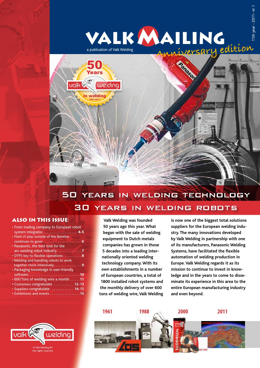2011-01-Valk Mailing-EN by Valk Welding B V  - issuu