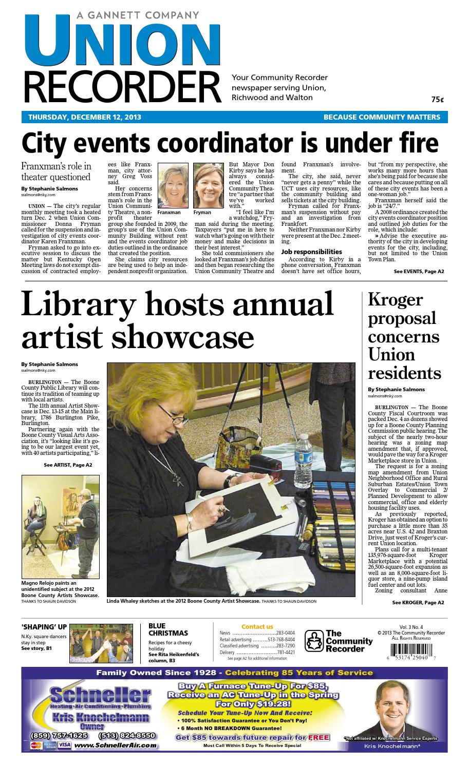 11812c6ba364 Union recorder 121213 by Enquirer Media - issuu