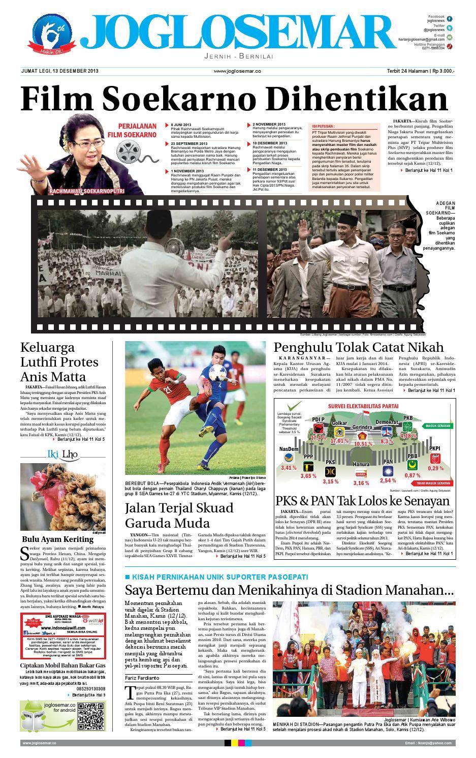 Epaper Edisi 13 Desember 2013 By Pt Joglosemar Prima Media Issuu Kue Bakpia Kuliner Yulis Saekowati Akumandiri