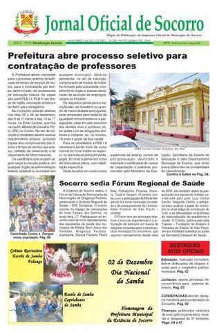 2353c58debbd0 Edição 14 - 24 11 2006 - Jornal Oficial de Socorro