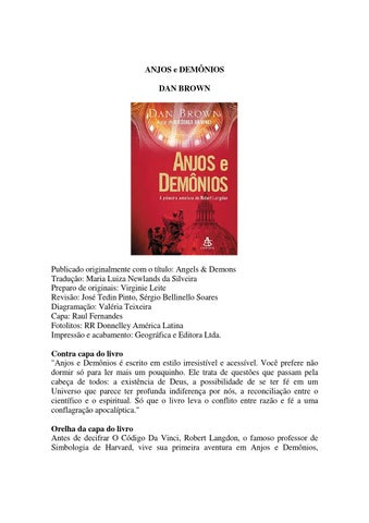 Anjos e demnios dan brown by junior picano issuu page 1 fandeluxe Images