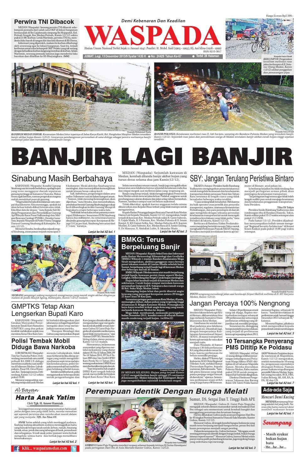 Waspada Jumat 13 Desember 2013 Ok By Harian Issuu Produk Ukm Bumn Madu Super Az Zikra
