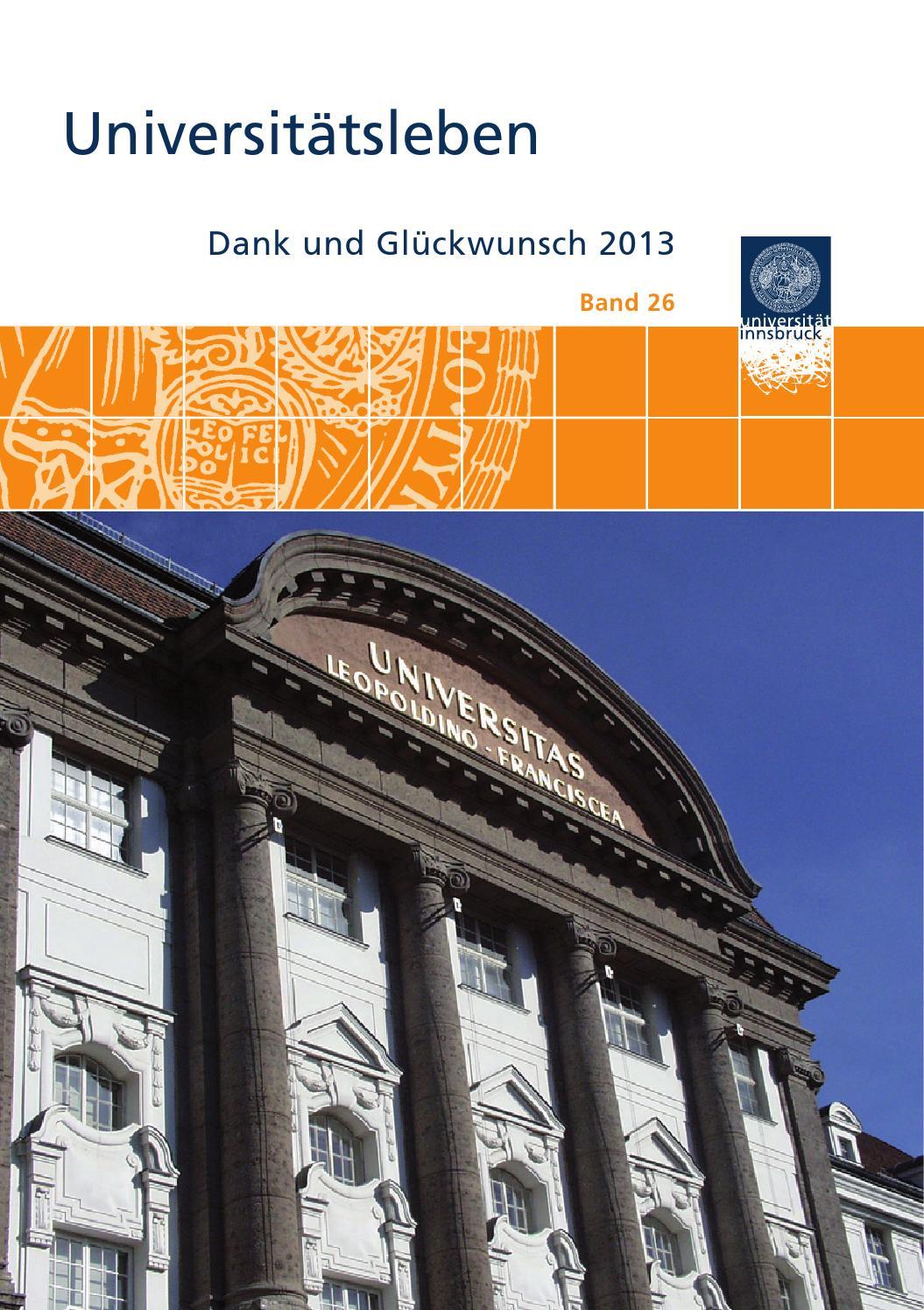 Dank und Glückwunsch 2013 by Universität Innsbruck - issuu