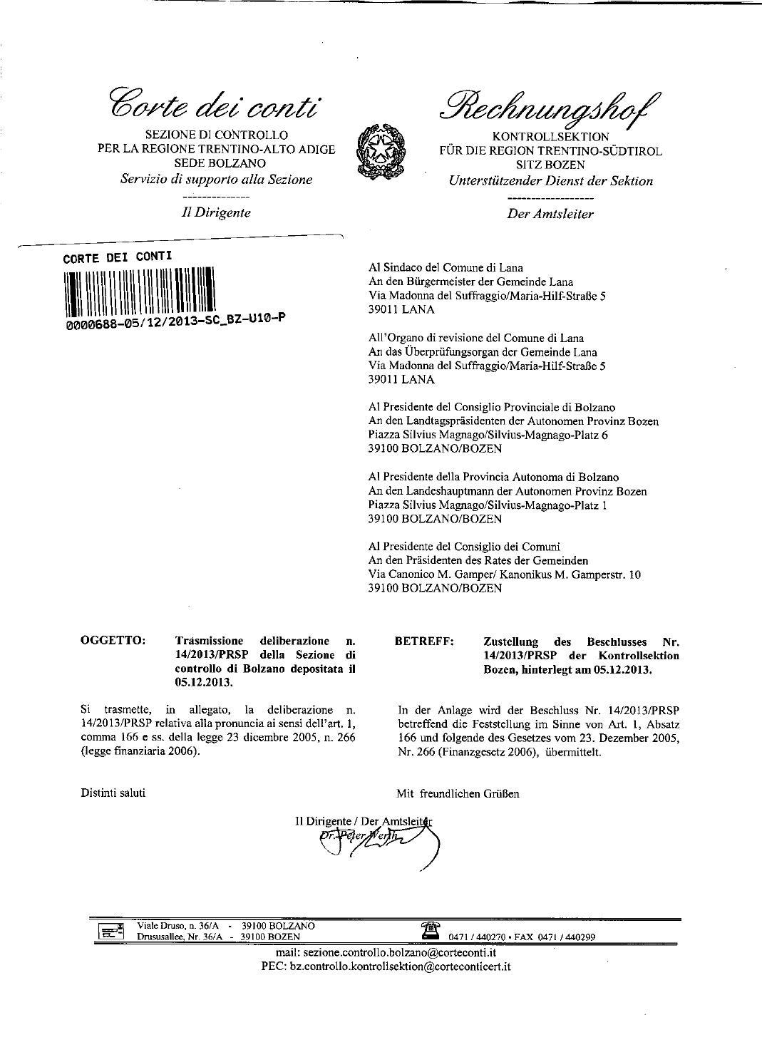 Comune Di Lana Bz deliberazione-n-14-2013-prsp-comune-di-lana by süd-tiroler