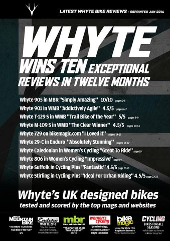 35641d61765 Whyte Top Ten Reviews - December 2013 by ATB Sales Ltd - issuu