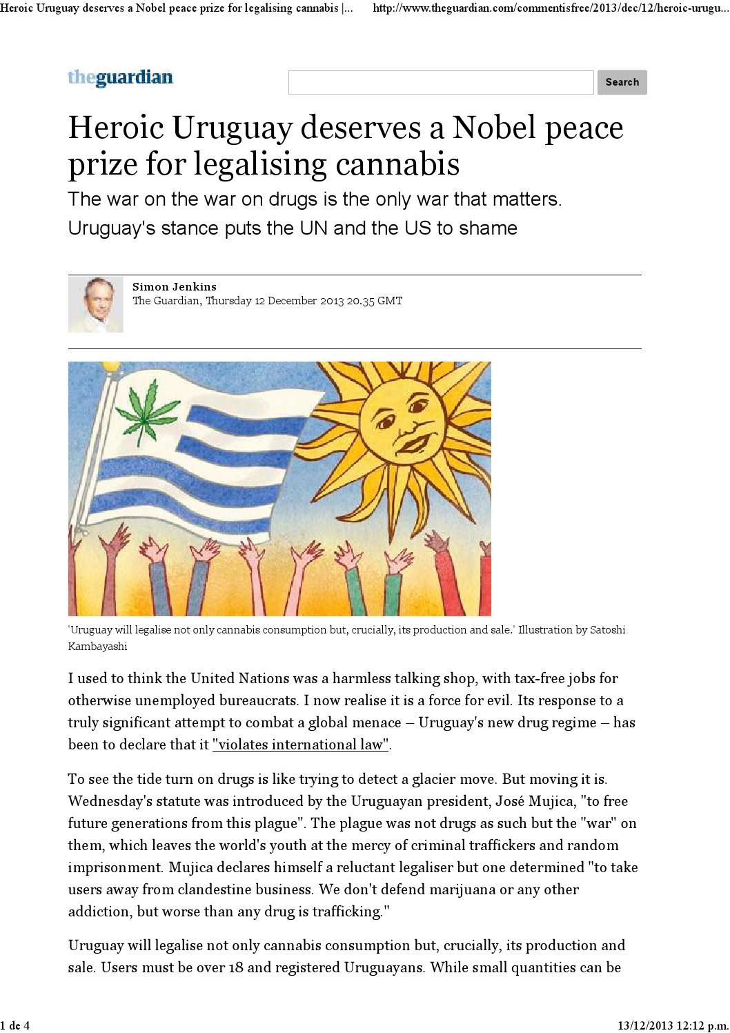 2b569fd84 Medios internacionales sobre la regulación del mercado de marihuana by  Presidencia de la República Oriental del Uruguay - issuu