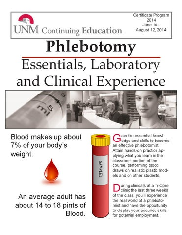 UNM Continuing Education Phlebotomy Program Packet by UNM