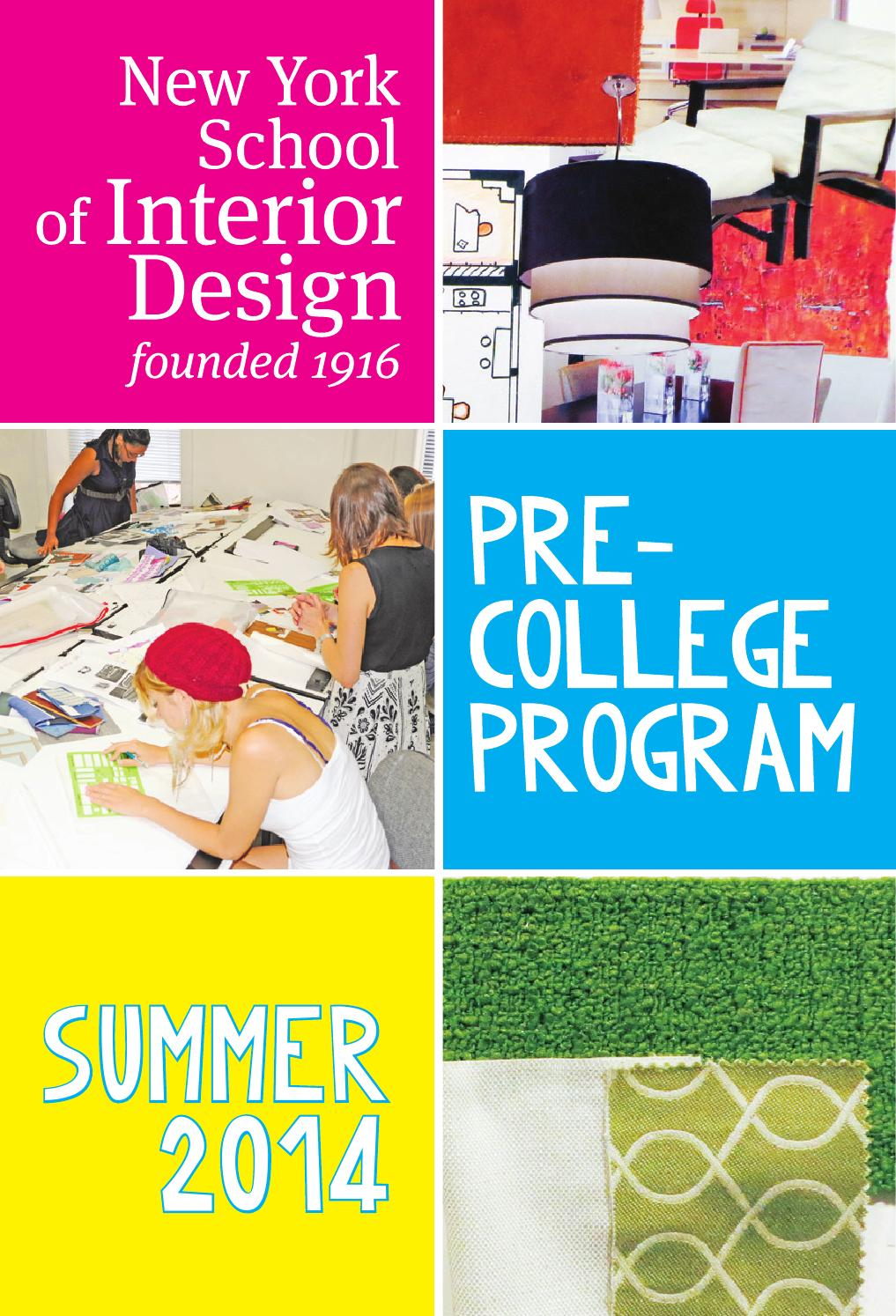 Pre College 2014 By New York School Of Interior Design Issuu