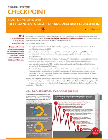 Thomson Reuters Report Health Care Reform by Engel & Volkers