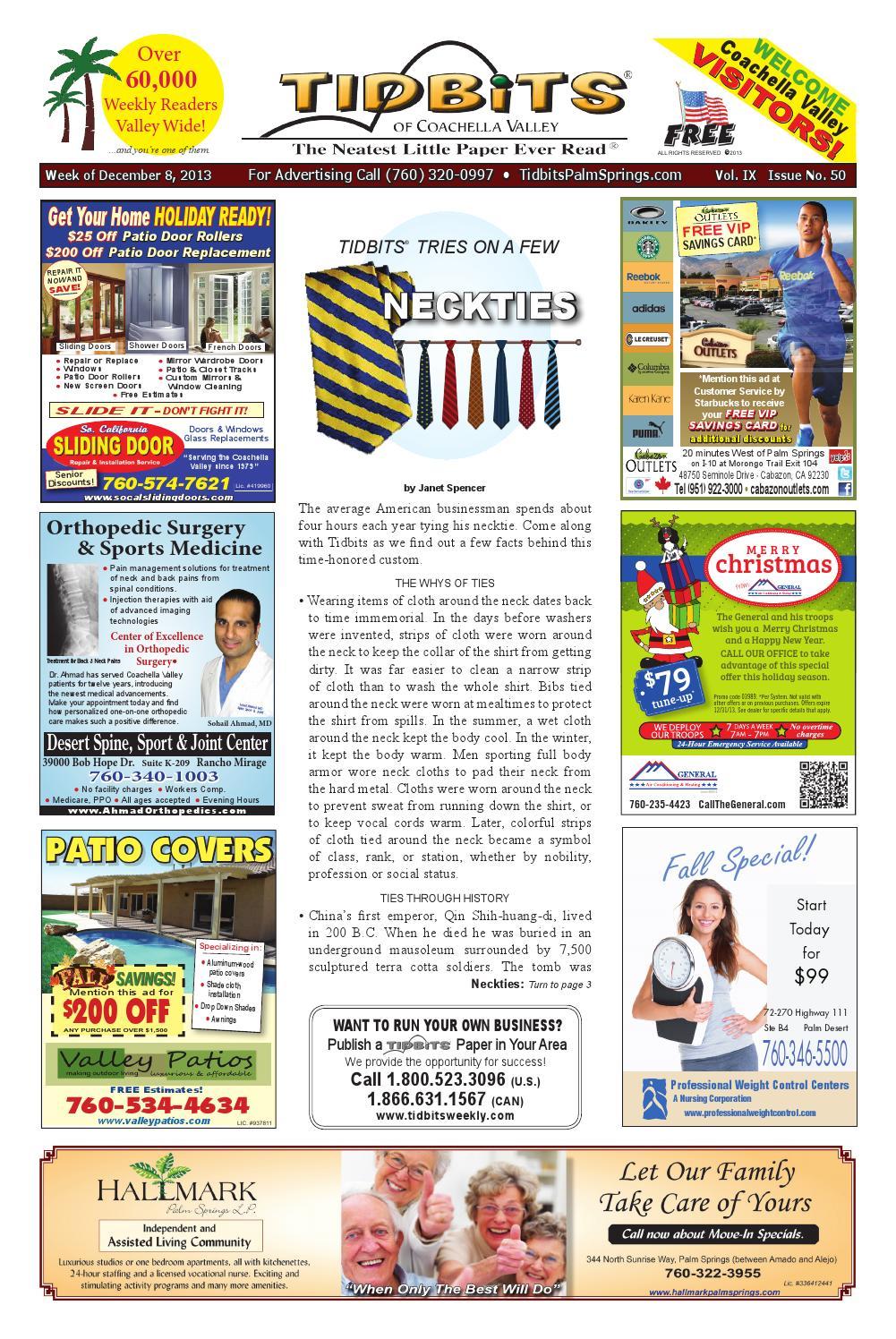 dc7afd7c24f Vol. 9: #50 • Neckties • (12/8/13) Tidbits of Coachella Valley by ...