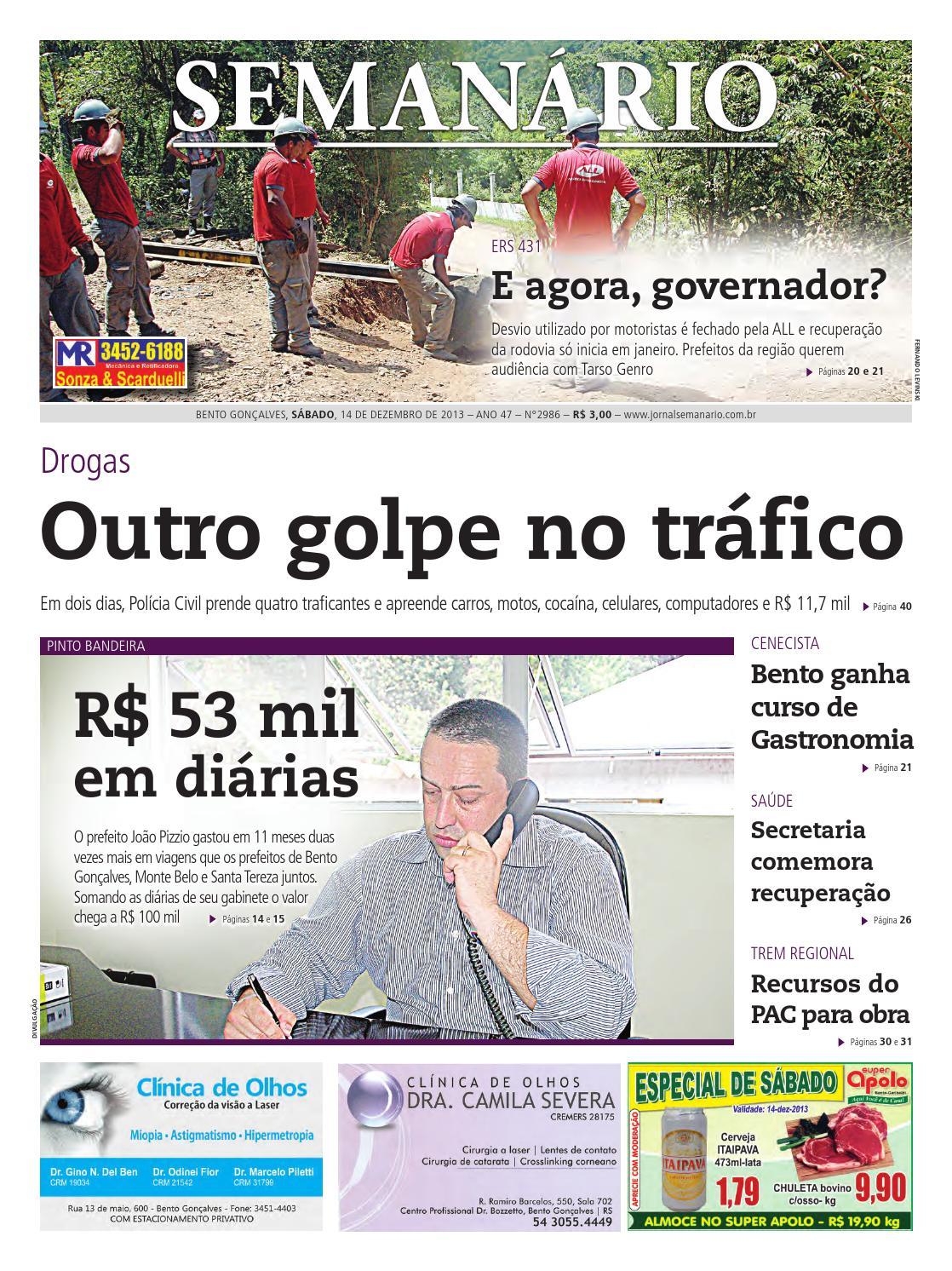 14 12 2012 - Jornal Semanário - Edição 2986 by Jornal Semanário - Bento  Gonçalves - RS - issuu 14529e62fa