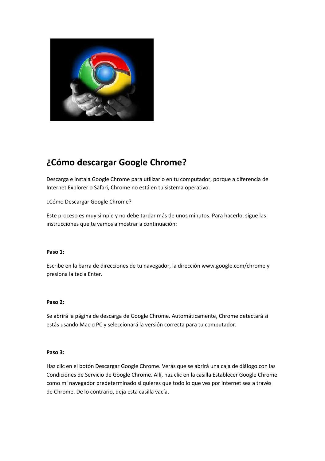 descargar navegador chrome para pc