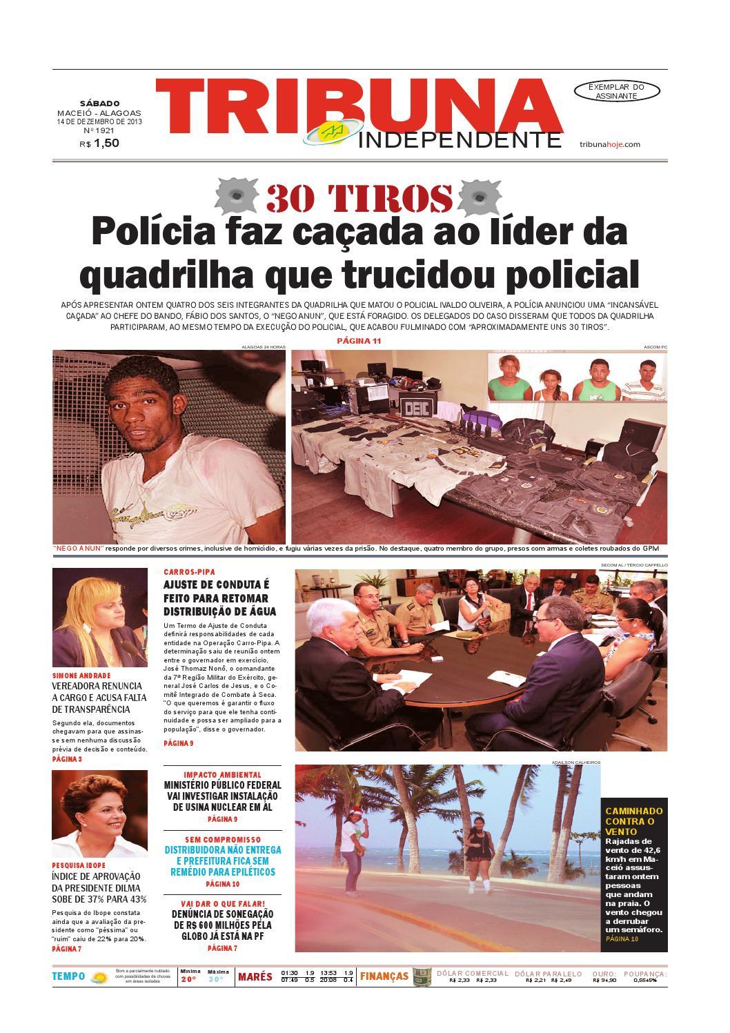 ac3b9e6269e Edição número 1921 - 14 de dezembro de 2013 by Tribuna Hoje - issuu
