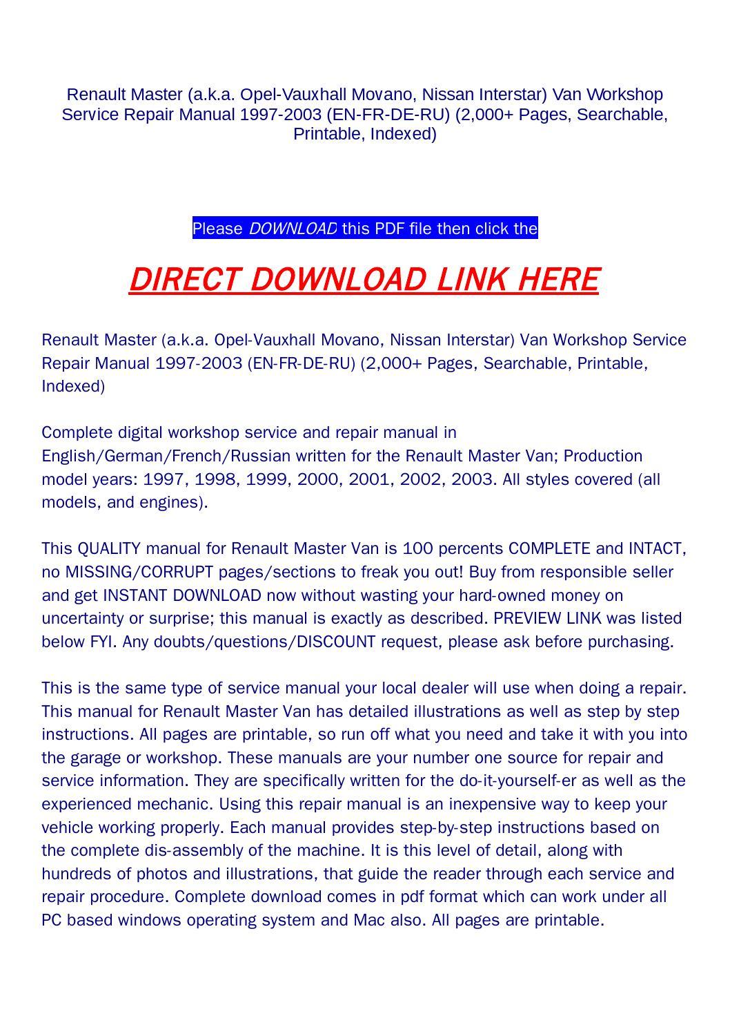 nissan interstar wiring diagram online wiring diagramnissan interstar wiring  diagram schematic diagramrenault master (a k a opel