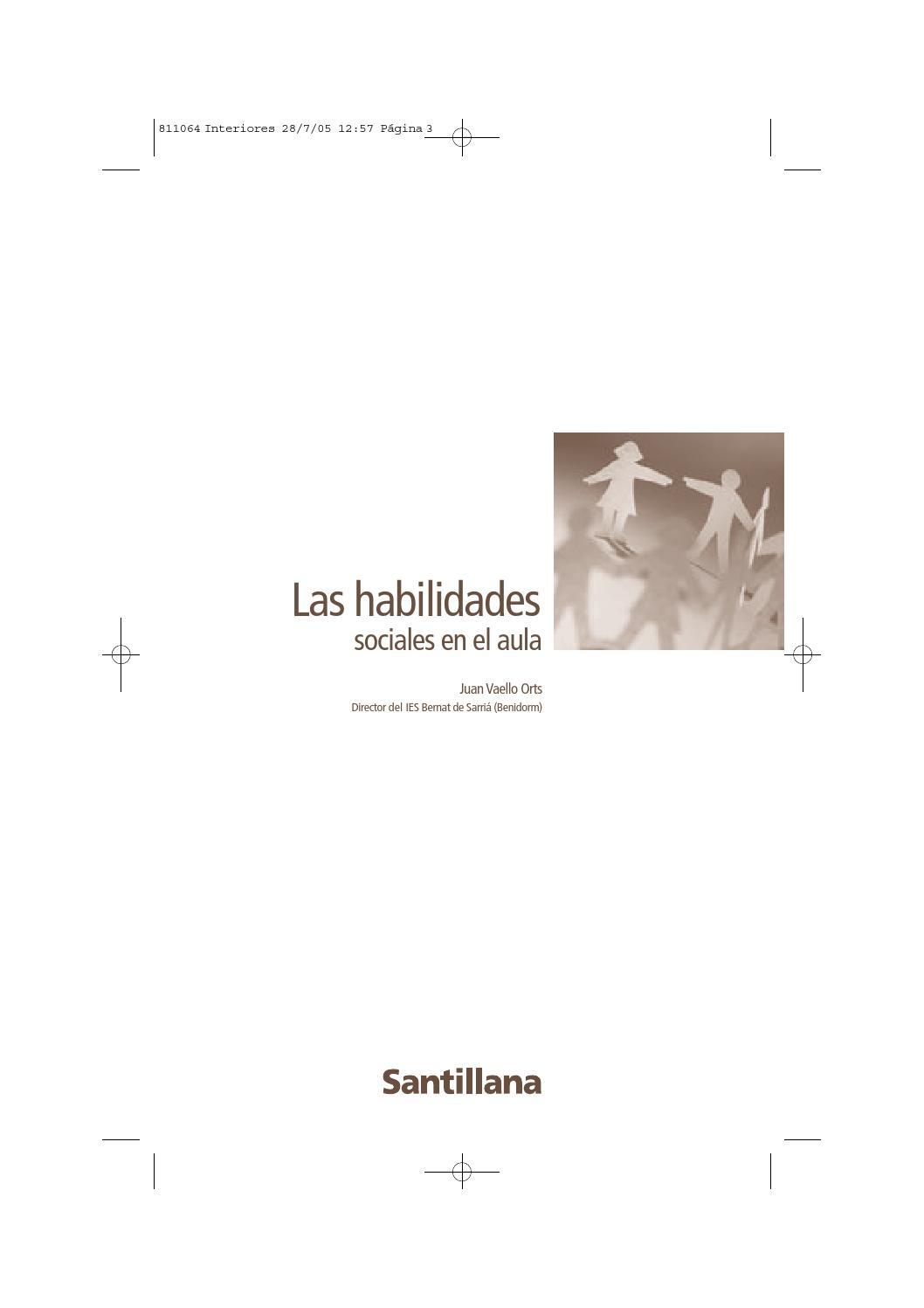 Libro pdf las habilidades sociales en el aula vaello by ANA MARIN ...