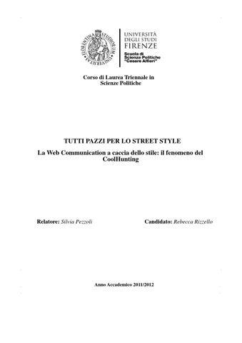 Corso di Laurea Triennale in Scienze Politiche. TUTTI PAZZI PER LO STREET  STYLE ... 8e73ecd93ff2
