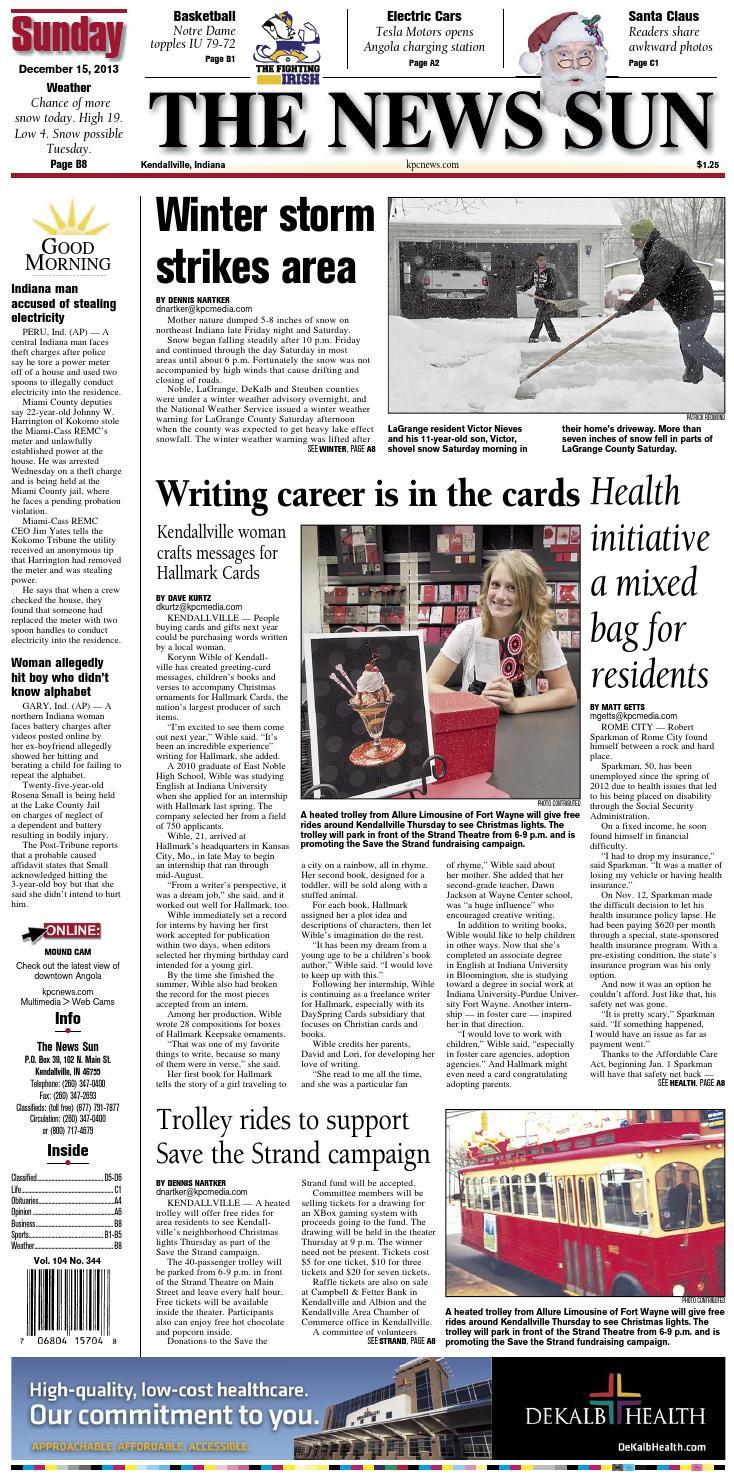 The News Sun – December 15, 2013 by KPC Media Group - issuu