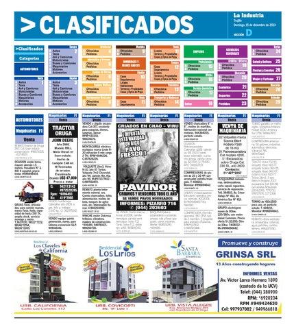 41cc8d8f7 La Industria Trujillo Clasificados 15 dic 2013 by Alejandro Obregon ...