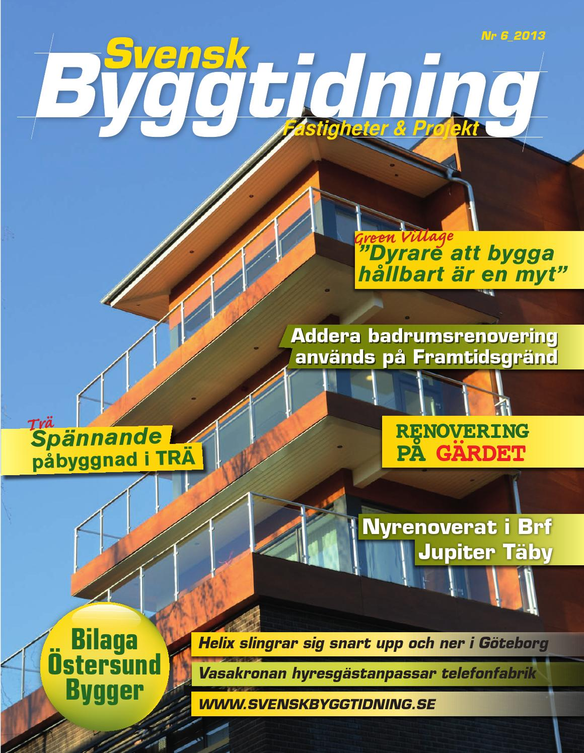 Svensk Byggtidning 6 13 by Stordåhd Kommunikation AB - issuu 8d72a96e68401