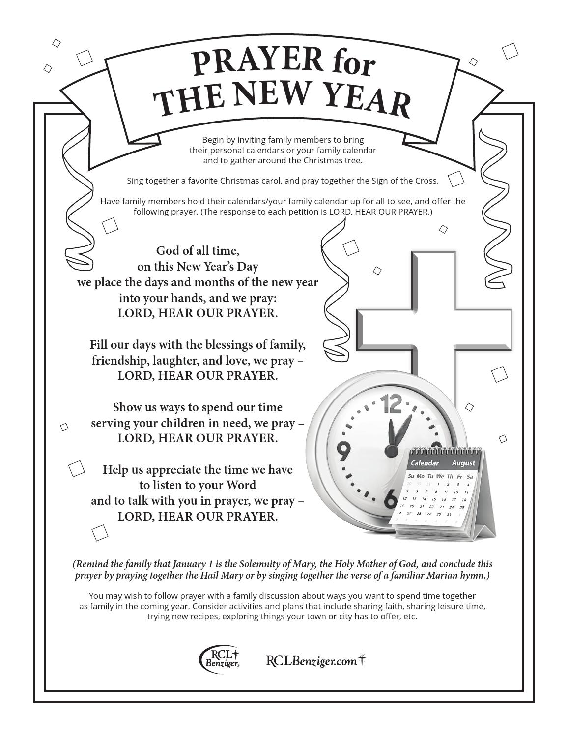 Prayer for The New Year by RCL Benziger - issuu