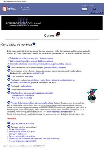 Cursos de electricidad y mecanica automotriz by UtilidadOnline - issuu