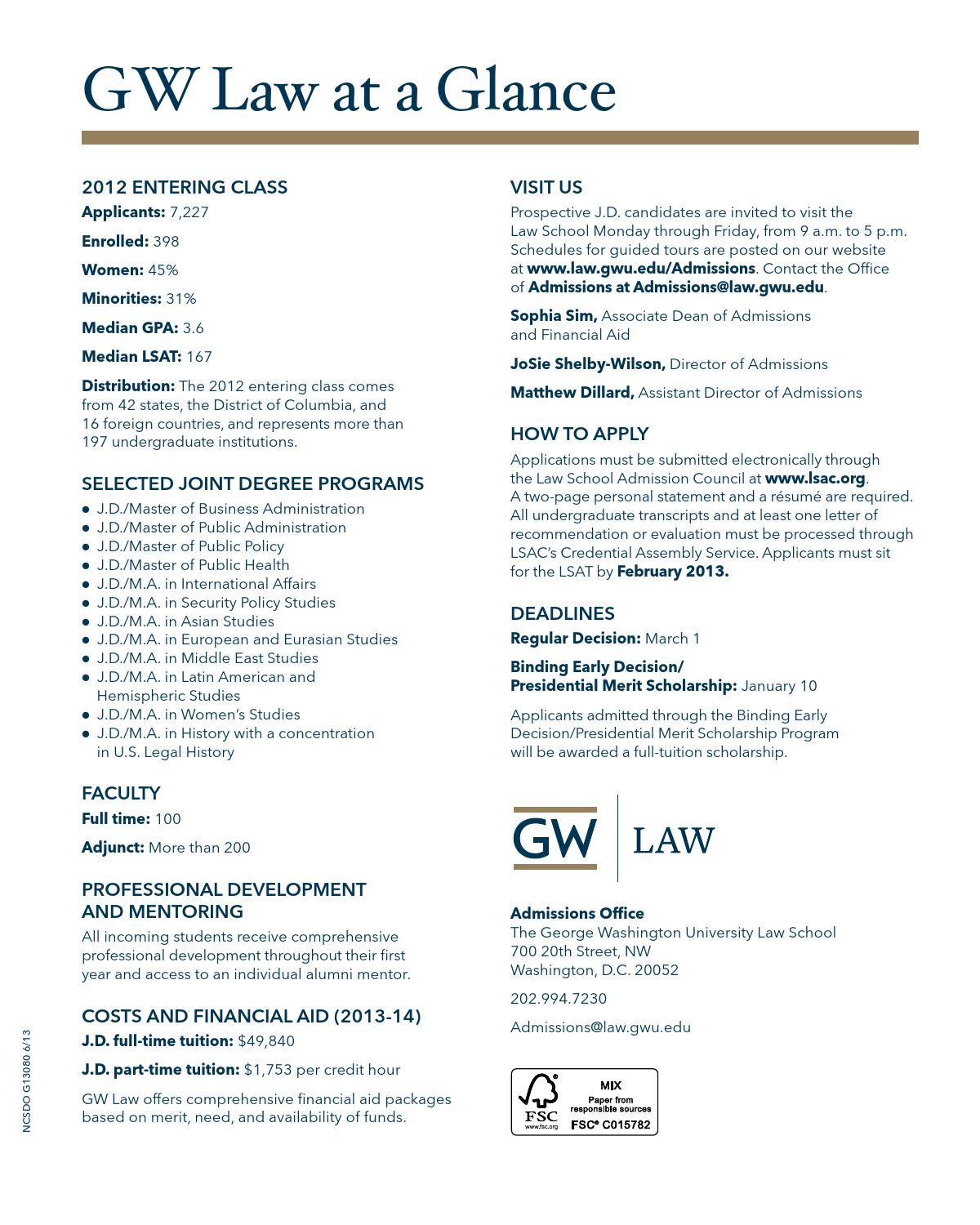 Jd Viewbook 2013 2014 By The George Washington University Law School