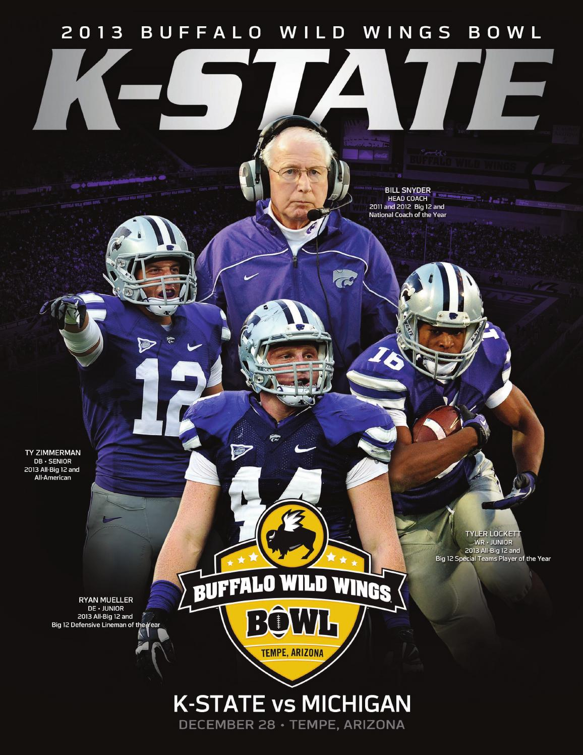 2013 K State Buffalo Wild Wings Bowl Media Guide By K