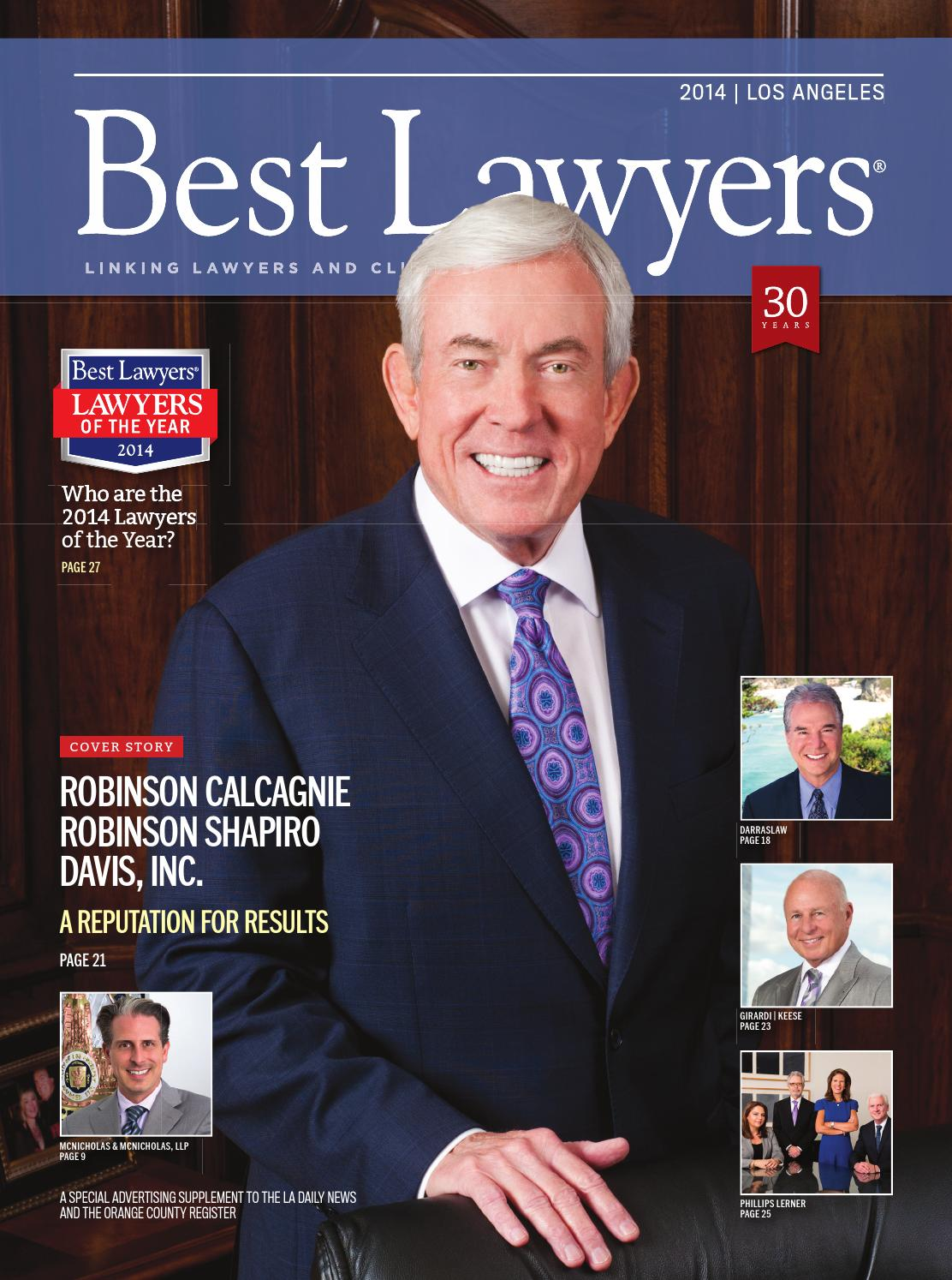 Los Angeles' Best Lawyers 2014 by Best Lawyers - issuu