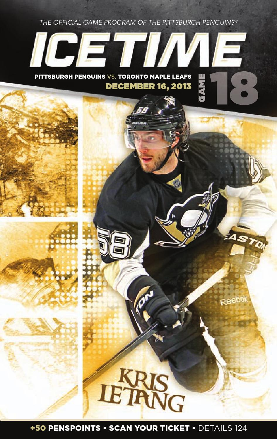 24a485b14 IceTime - Game 18 vs. Toronto Maple Leafs 12 16 13. IceTime is the official  game program of the Pittsburgh Penguins