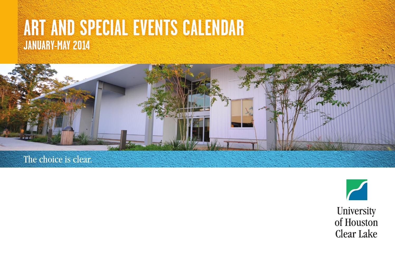 Art Events Calendar : Uhcl art and special events calendar spring by