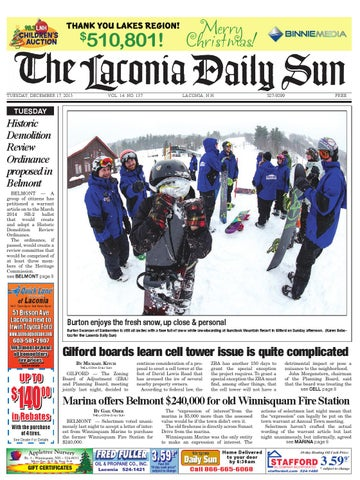 The laconia daily sun, december 17, 2013