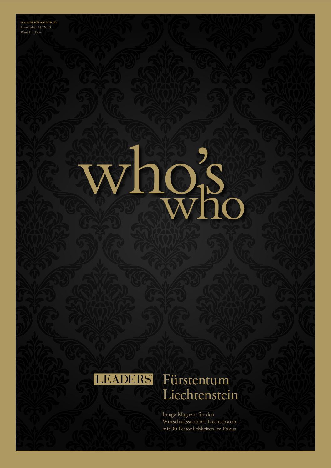 Who\'s who Liechtenstein 2013 by LEADER - das Unternehmermagazin - issuu