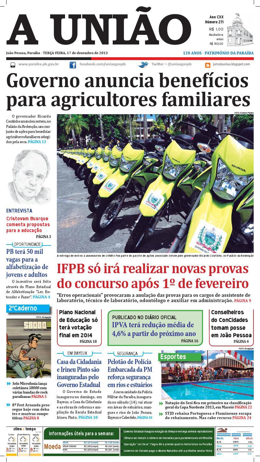 Jornal em pdf 17 12 13 by Jornal A União - issuu 548ac089b3e02