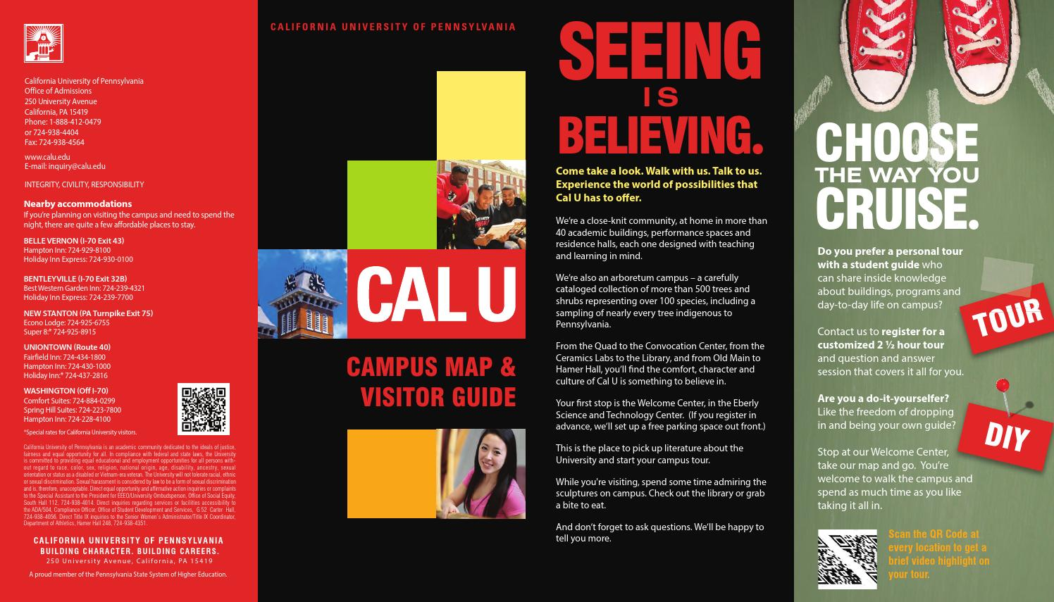 California University Of Pa Campus Map.Campus Map By California University Of Pennsylvania Issuu