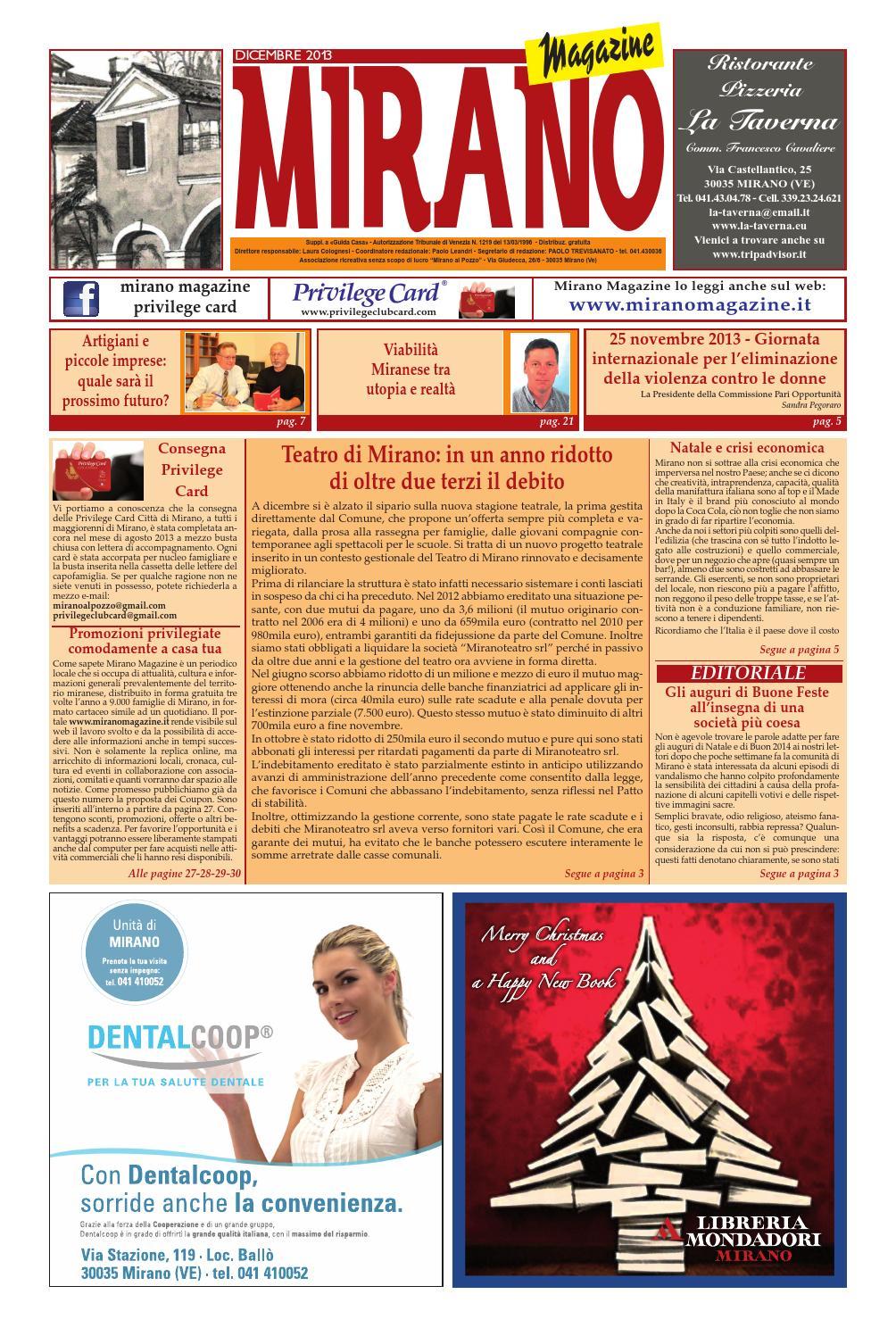 b2c7d67428df Mirano Magazine Dicembre 2013 by Tobias Capo - issuu