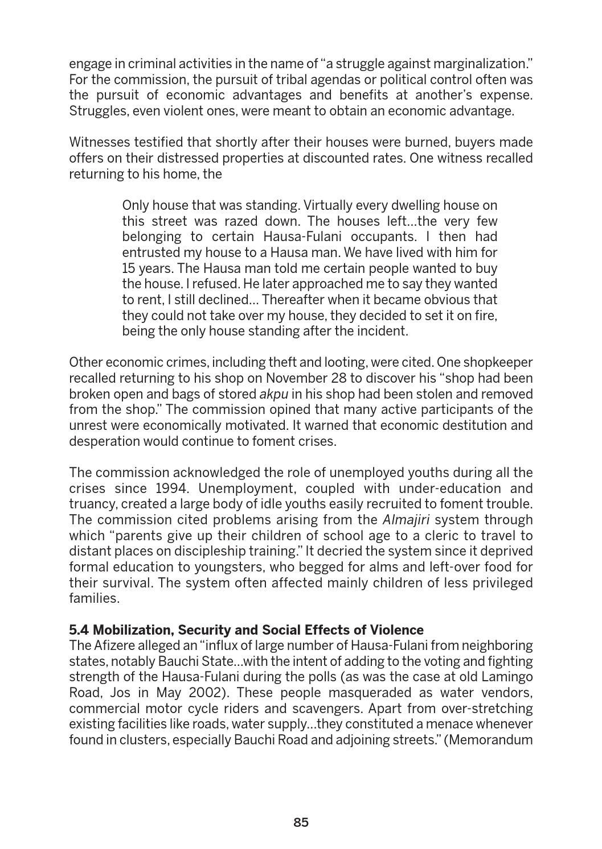 Nigeria: Peace Building through Integration and Citizenship