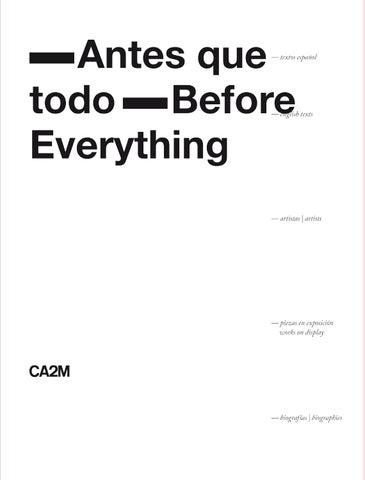 Antes que todo by ca2m centro de arte dos de mayo issuu page 1 fandeluxe Choice Image