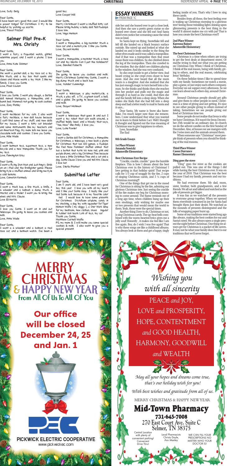 2013 Christmas Tab By Independent Appeal Issuu