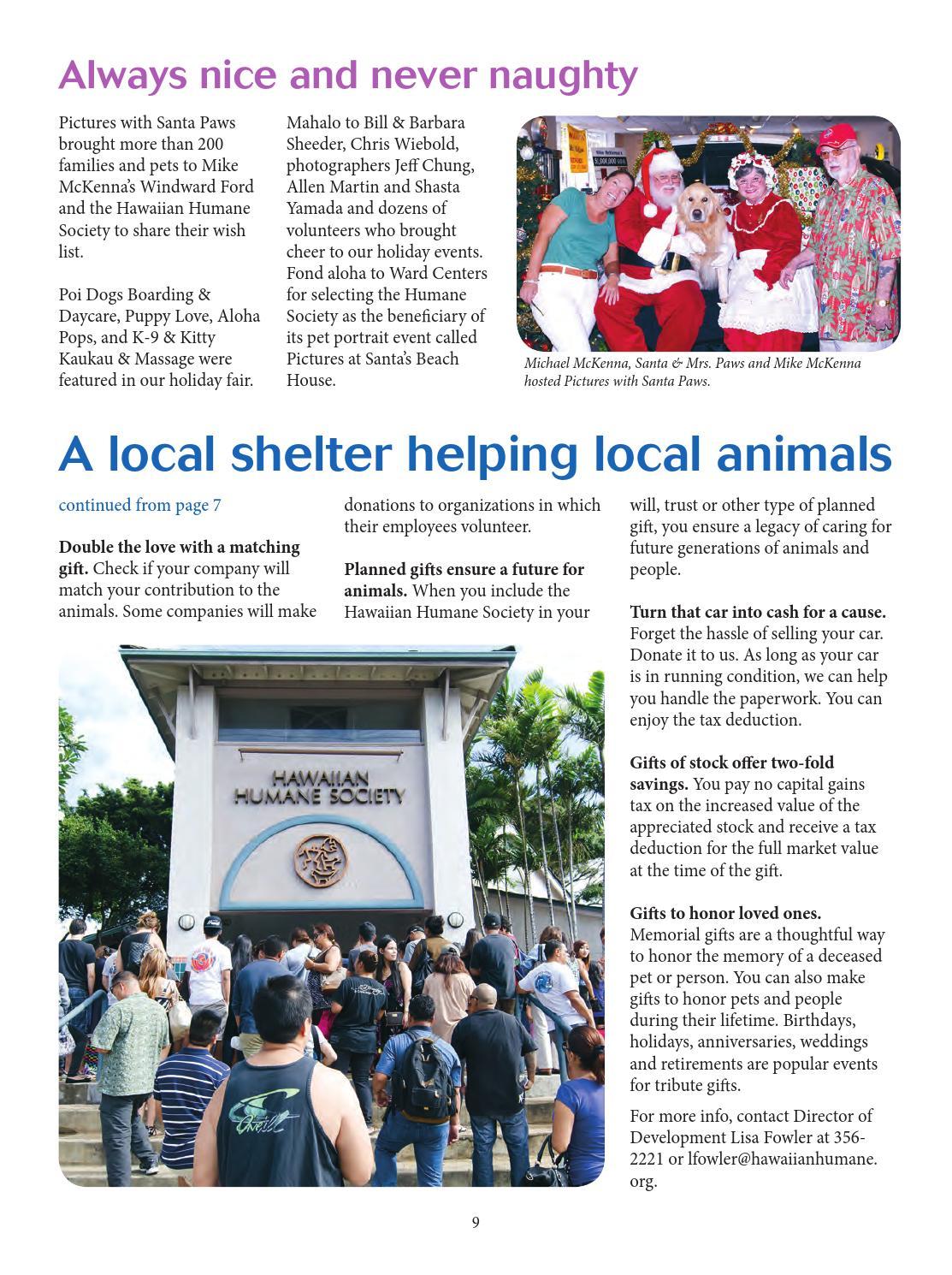 Hawaiian Humane Society Jan - March 2014 Newsletter by