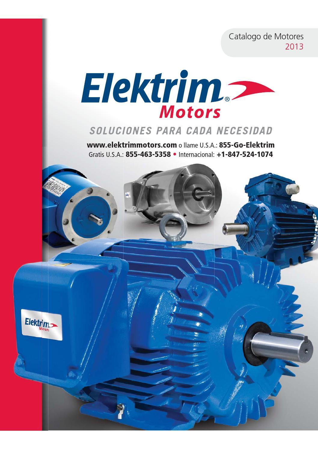 2013 Catálogo de Elektrim Motores en Español by Toolmex Industrial ...
