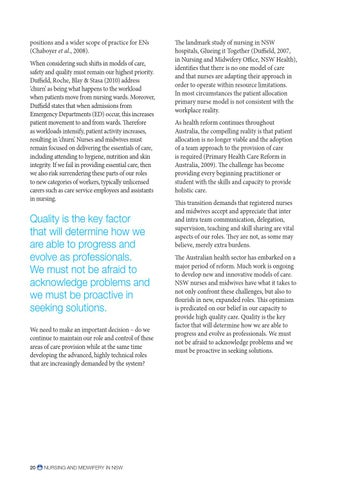 Nursing and Midwifery in New South Wales by NSW Nurses and
