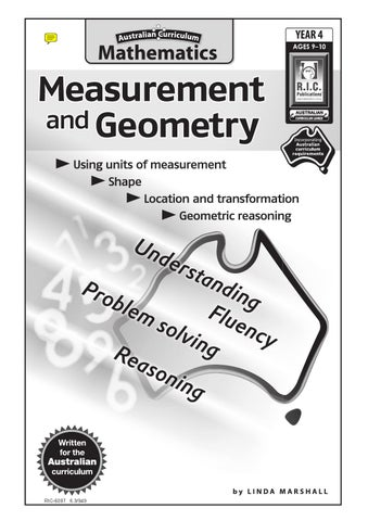 Australian Curriculum Mathematics Measurement And Geometry Year 4