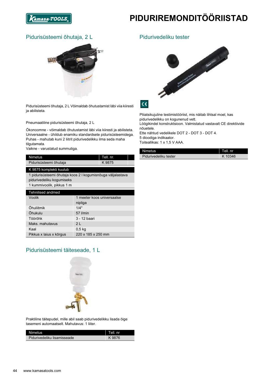 75f6989c884 Kamasa Tools tööriistad by Autoekspert - issuu
