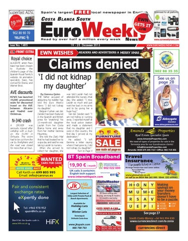 Euro Weekly News Costa Blanca South 19 25 December 2013 Issue