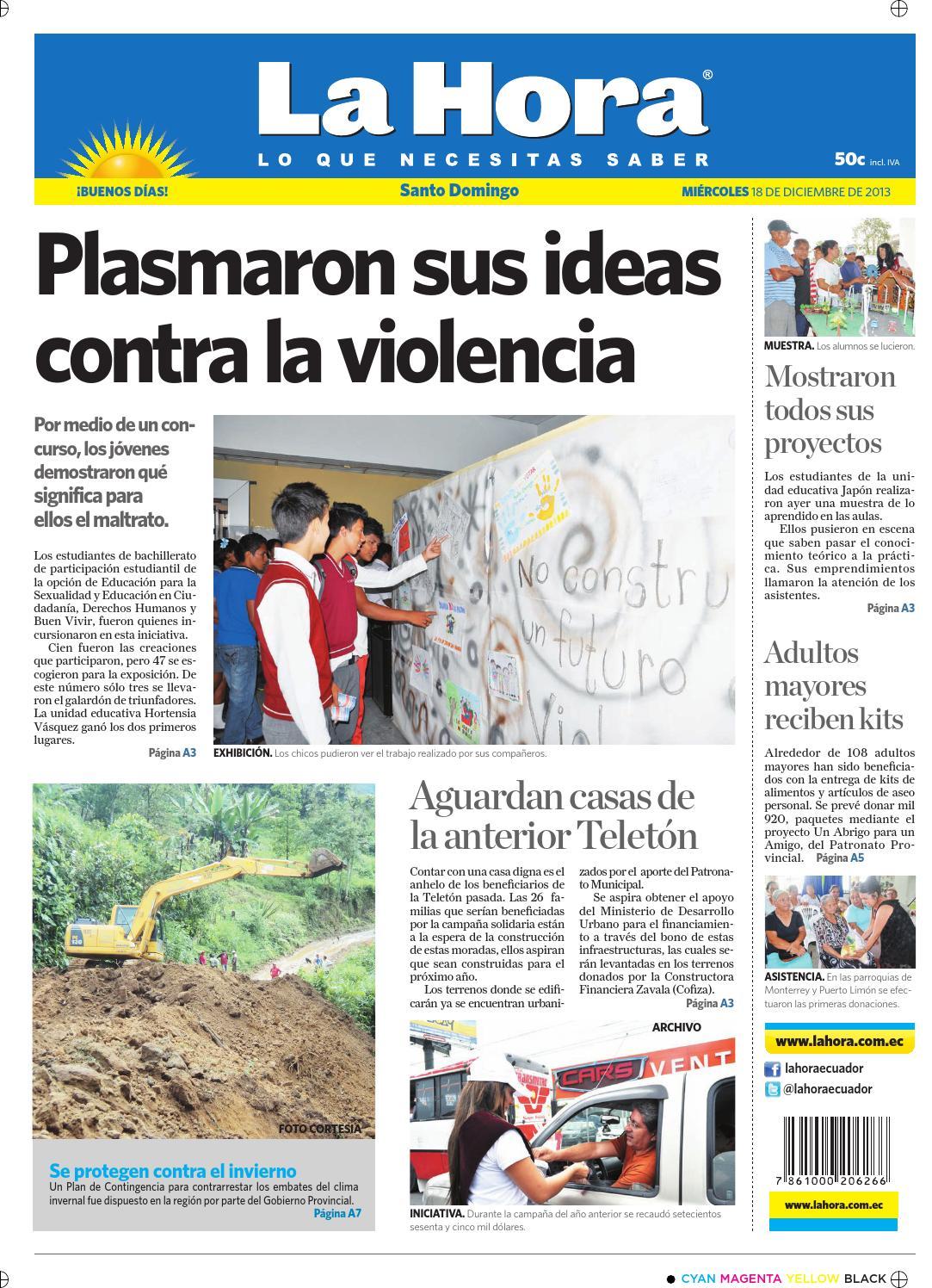 La Hora Santo Domingo 18 diciembre 2013 by Diario La Hora Ecuador ...